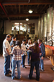 USA, California, Sonoma, friends sample wine at the Ravenswood winery