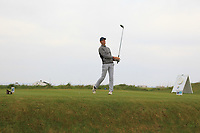 Callan Barrow (ENG) on the 1st tee during Round 1of the Flogas Irish Amateur Open Championship 2019 at the Co.Sligo Golf Club, Rosses Point, Sligo, Ireland. 16/05/19<br /> <br /> Picture: Thos Caffrey / Golffile<br /> <br /> All photos usage must carry mandatory copyright credit (© Golffile | Thos Caffrey)