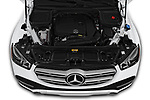 Car Stock 2020 Mercedes Benz GLE 350 5 Door SUV Engine  high angle detail view