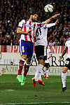 Atletico de Madrid´s Raul Garcia and Valencia CF´s Jose Gaya during 2014-15 La Liga match between Atletico de Madrid and Valencia CF at Vicente Calderon stadium in Madrid, Spain. March 08, 2015. (ALTERPHOTOS/Luis Fernandez)