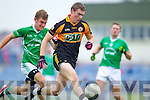 Greg Horan Austin Stacks in action against Matthew Gavin Saint Kierans in the Quarter Finals of the County Championship at Austin Stack Park on Sunday.