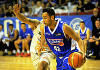 Tai Wesley in action during the national basketball league match between Wellington Saints and Taylor Hawks at TSB Bank Arena in Wellington, New Zealand on Friday, 17 March 2017. Photo: Dave Lintott / lintottphoto.co.nz