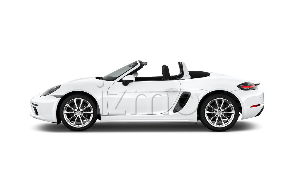 Car Driver side profile view of a 2019 Porsche 718-Boxster - 2 Door Convertible Side View
