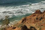 Israel, Sharon region, the cliffs at Gaash beach