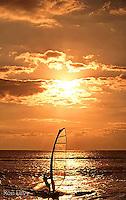 Windsurfer at sunset, Maui, Hawaii
