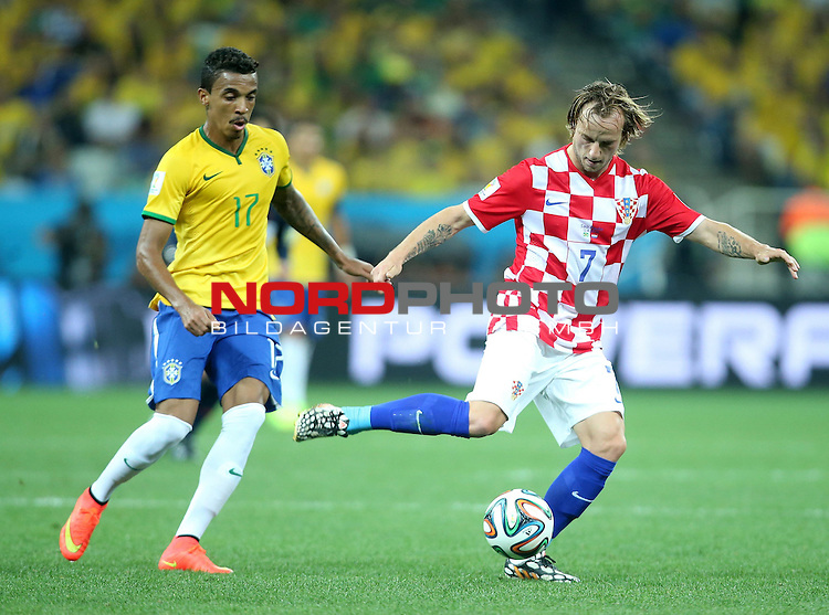 2014 Fifa World Cup opening game from group A against Brazil and Croatia.<br /> Ivan Rakitic, Gustavo<br /> <br /> Foto &copy;  nph / PIXSELL / Sajin Strukic