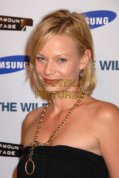 "SAMANTHA MATHIS.""Into The Wild"" Los Angeles Premiere at the Director's Guild Theater, West Hollywood, California, USA..September 18th, 2007.headshot portrait black gold necklace strapless .CAP/ADM/BP.©Byron Purvis/AdMedia/Capital Pictures."