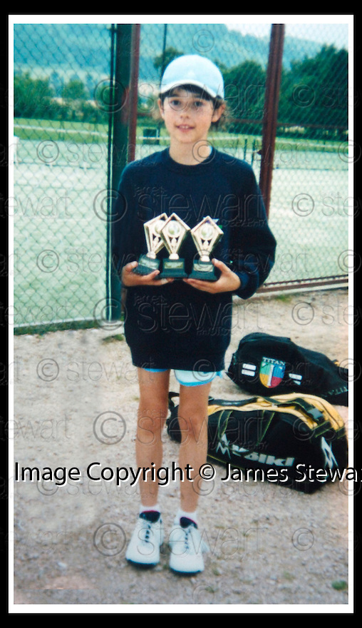 31/10/2008  Copyright Pic: James Stewart.File Name : sct_jspa12_katie_gater.COLLECT PIC OF DUNBLANE TEENAGER, KATIE GATER, WHO HOPES TO FOLLOW IN THE FOOTSTEPS OF NEAR NEIGHBOUR ANDREW MURRAY AND PLAY TOP FLIGHT TENNIS... SHE IS PICTURED AGE 11 WITH SOME OF HER PREVIOUS TROPHIES....James Stewart Photo Agency 19 Carronlea Drive, Falkirk. FK2 8DN      Vat Reg No. 607 6932 25.Studio      : +44 (0)1324 611191 .Mobile      : +44 (0)7721 416997.E-mail  :  jim@jspa.co.uk.If you require further information then contact Jim Stewart on any of the numbers above.........