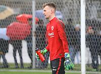 Torwart Lukas Hradecky (Eintracht Frankfurt) - 04.04.2018: Eintracht Frankfurt Training, Commerzbank Arena