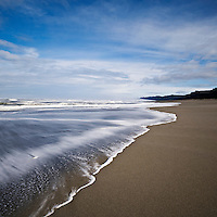 Incoming wave, Gold Bluffs beach, Prairie Creek Redwoods state park, California
