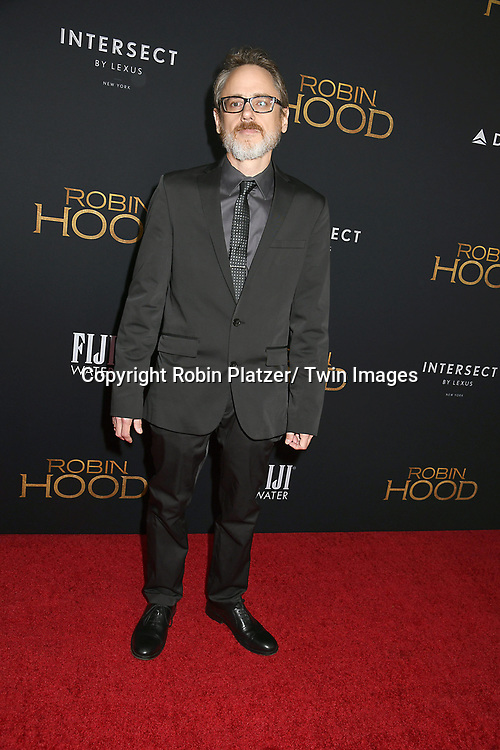 """screenwriter David James Kelly attends the New York Special Screening of """"Robin Hood"""" on November 11, 2018 at AMC Lincoln Square in New York, New York, USA.<br /> <br /> photo by Robin Platzer/Twin Images<br />  <br /> phone number 212-935-0770"""