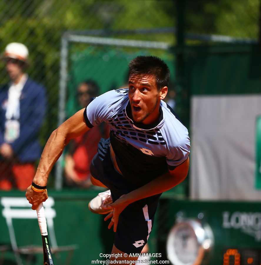 DAMIR DZUMHUR (BIH)<br /> <br /> Tennis - French Open 2015 -  Roland Garros - Paris -  ATP-WTA - ITF - 2015  - France <br /> <br /> &copy; AMN IMAGES