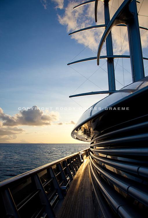 SY Maltese Falcon. Shot in Antigua for her charter brochure.