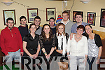 Having fun New Years eve in Griffin's bar Castlemaine was front row l-r: Roisin Griffin, Clodagh Shannon, Karen Foley, Bridie O'Connor, Carla O'Donnell. Stephen Barton, Nicky Buckley, Timmy Griffin, Aidan Dowling, Kenneth Roland and Brendan Griffin