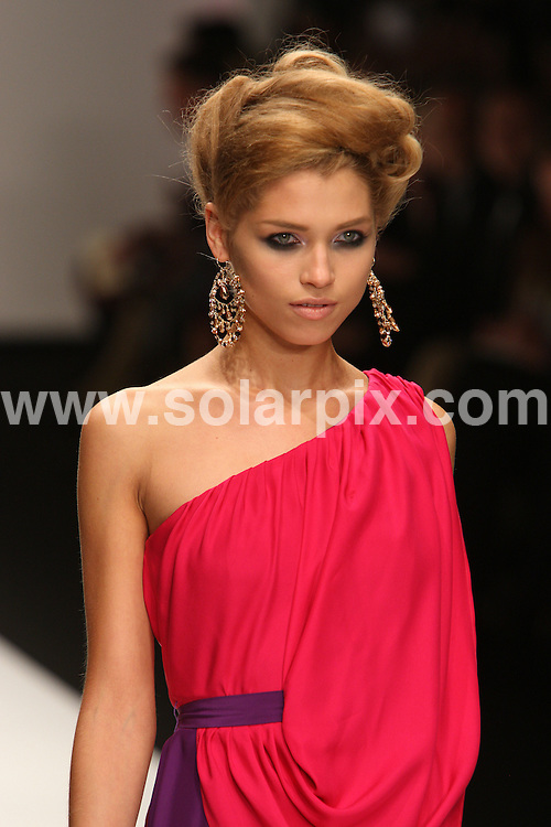 **ALL ROUND PICTURES FROM SOLARPIX.COM**                                             **WORLDWIDE SYNDICATION RIGHTS**                                                                                  Caption: The Issa catwalk runway fashion show as part of London Fashion Week 2010. London, UK. 21 September 2010                                                                             This pic: Issa catwalk show                                                                                              JOB REF: 12168 MLW       DATE: 21_09_2010                                                           **MUST CREDIT SOLARPIX.COM OR DOUBLE FEE WILL BE CHARGED**                                                                      **MUST AGREE FEE BEFORE ONLINE USAGE**                               **CALL US ON: +34 952 811 768 or LOW RATE FROM UK 0844 617 7637**