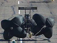 Feb 24, 2018; Chandler, AZ, USA; NHRA top fuel driver Richie Crampton during qualifying for the Arizona Nationals at Wild Horse Pass Motorsports Park. Mandatory Credit: Mark J. Rebilas-USA TODAY Sports