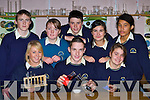 Colaiste na Sceilge students who will be competing in the BT Young Scientists competition in the RDS from 6-10 January front row l-r: Sinead Sheehan, james Casey, Kerry Corcoran. Back row: Gearoid Sugrue, Marian Lynch, Alan O'Donoghue, Marisa Penagos and Siobhain Sugrue   Copyright Kerry's Eye 2008