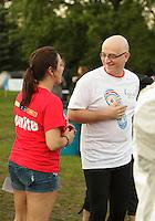 Montreal (QC) CANADA - June 8 2012 -  Relai pour la vie de la Societe canadienne du cancer  2012 - Montreal-Centre au Parc Maisonneuve - Dr Alain Vadeboncoeur