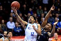GRONINGEN - Basketbal, Donar - Apollo , Martiniplaza, Dutch Basketbal League seizoen 2019-2020, 18-1-2020,  Donar speler Carrington Love op weg naar score