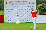 Ali Aanish Rehmanof Pakistan tees off at tee one during the 9th Faldo Series Asia Grand Final 2014 golf tournament on March 18, 2015 at Mission Hills Golf Club in Shenzhen, China. Photo by Xaume Olleros / Power Sport Images