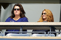 September 2, 2012: (l-r) Rosie O'Donnell and Michelle Rounds watch the action during Day 7 of the 2012 U.S. Open Tennis Championships at the USTA Billie Jean King National Tennis Center in Flushing, Queens, New York, USA. © mpi105/MediaPunch Inc. /NortePhoto.com<br />