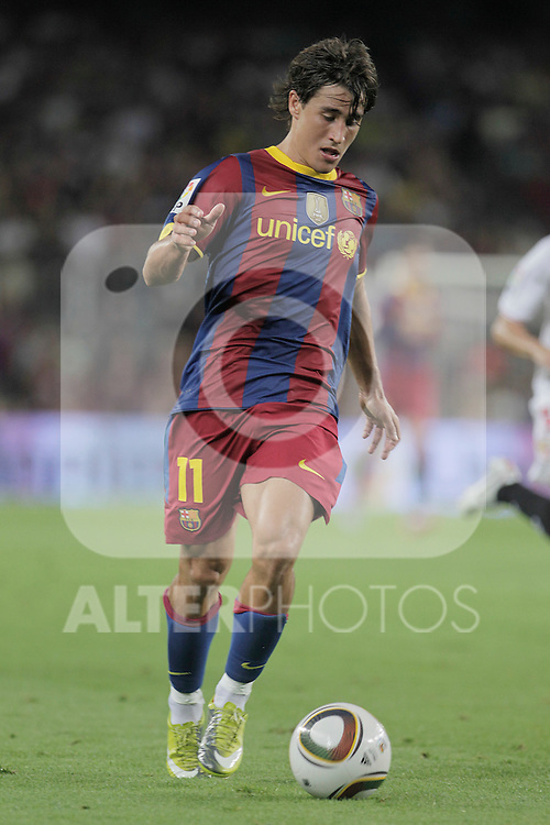 FC Barcelona's Bojan Krkic during SuperCup of Spain Final match. August 21,2010. (ALTERPHOTOS/Acero)