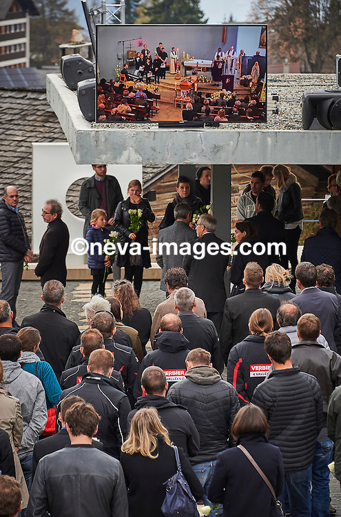 Vercorin, le 22 avril 2016, Enterrement de la jeune championne de Freeride Estelle Balet ou nombre de ses proches et fans ainsi que collègues freerider étaient présents © sedrik nemeth