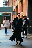 Rachael Wang at Day 7 of New York Fashion Week on Feb 18, 2015 (Photo by Hunter Abrams/Guest of a Guest)