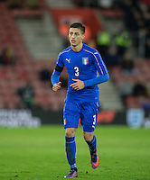Antonio Barreca (Torino) of Italy during the Under 21 International Friendly match between England and Italy at St Mary's Stadium, Southampton, England on 10 November 2016. Photo by Andy Rowland.