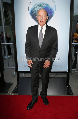 """HOLLYWOOD, CA - JULY 25: Governor Jerry Brown, At Screening Of Paramount Pictures' """"An Inconvenient Sequel: Truth To Power"""" At ArcLight Hollywood In California on July 25, 2017. Credit: FS/MediaPunch"""