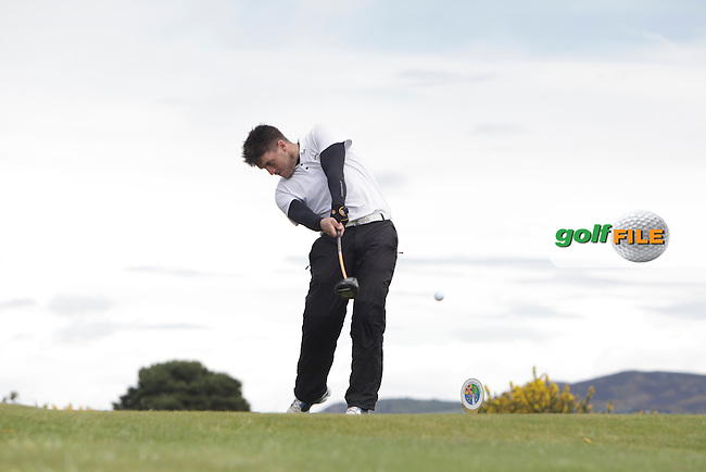 Gary McDermott (Carton Hous ) on the 16th tee during Round 4 of The Irish Amateur Open Championship in The Royal Dublin Golf Club on Sunday 11th May 2014.<br /> Picture:  Thos Caffrey / www.golffile.ie