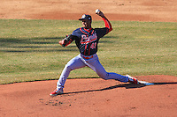 Peoria Chiefs pitcher Dewin Perez (41) delivers a pitch during a game against the Wisconsin Timber Rattlers on April 12th, 2015 at Fox Cities Stadium in Appleton, Wisconsin.  Peoria defeated Wisconsin 11-1.  (Brad Krause/Four Seam Images)