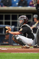 Quad Cities River Bandits catcher Garrett Stubbs (17) during the first game of a doubleheader against the Wisconsin Timber Rattlers on August 19, 2015 at Modern Woodmen Park in Davenport, Iowa.  Quad Cities defeated Wisconsin 3-2.  (Mike Janes/Four Seam Images)