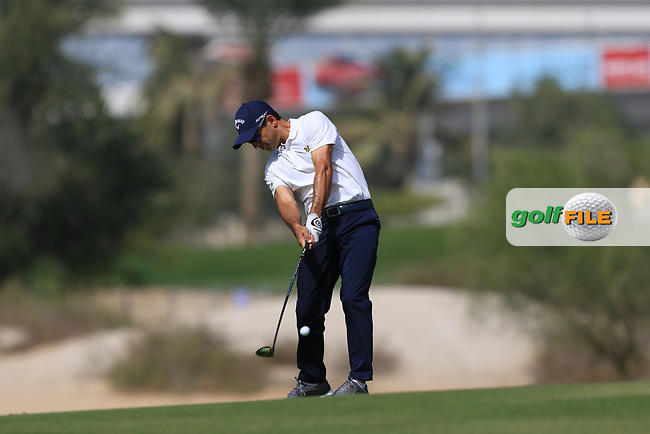 Fabrizio Zanotti (PAR) on the 3rd during Round 3 of the Omega Dubai Desert Classic, Emirates Golf Club, Dubai,  United Arab Emirates. 26/01/2019<br /> Picture: Golffile | Thos Caffrey<br /> <br /> <br /> All photo usage must carry mandatory copyright credit (&copy; Golffile | Thos Caffrey)