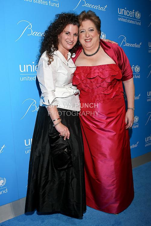 Cindi Berger, and Caryl Stern pose at the UNICEF Snowflake Ball, Presented by Baccarat, at Cipriani 42nd Street, November 30, 2010.