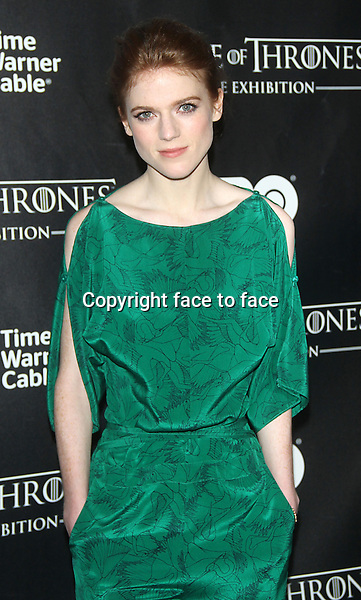 "NEW YORK, NY - MARCH 27: Rose Leslie at the ""Game Of Thrones"" The Exhibition New York Opening at 3 West 57th Avenue on March 27, 2013 in New York City...Credit: MediaPunch/face to face..- Germany, Austria, Switzerland, Eastern Europe, Australia, UK, USA, Taiwan, Singapore, China, Malaysia and Thailand rights only -"
