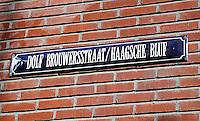 Dolf Brouwersstraat/ Haagsche Bluf in het centrum van Den Haag