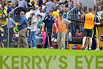 Eamonn Fitzmaurice, Kerry Manager in the Munster Senior Championship Semi Final in Cusack Park, Ennis on Sunday.