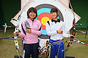 (L to R) Miki Kanie (JPN), Kaori Kawanaka (JPN), .April 22, 2012 - Archery : .Archery Japan National Team Selection match for The World Cup Ogden 2012 .at JISS Archery Field, Tokyo, Japan. .(Photo by Daiju Kitamura/AFLO SPORT) [1045]