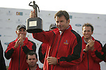 Winning Captain Nick Faldo with he Seve Trophy after the final round singles of the Seve Trophy at The Heritage Golf Resort, Killenard,Co.Laois, Ireland 30th September 2007 (Photo by Eoin Clarke/GOLFFILE)