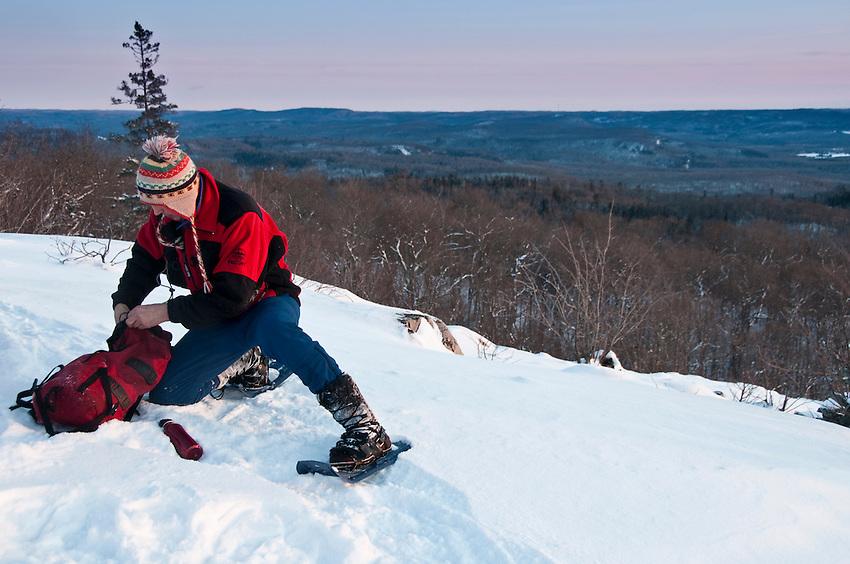 Bob Yankus atop King Mountain at Stokely Creek Lodge in Ontario Canada.