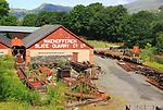 Maenofferen slate quarry company, Minffordd Yard, Gwynedd, north west Wales, UK