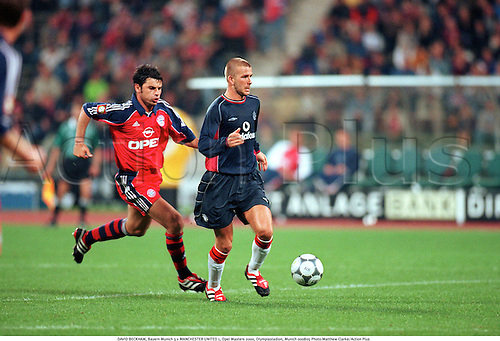 DAVID BECKHAM, Bayern Munich 3 v MANCHESTER UNITED 1, Opel Masters 2000, Olympiastadion, Munich 000805 Photo:Matthew Clarke/Action Plus...2000.Soccer.Premier League.football.english premiership club clubs.association