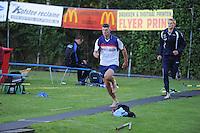 FIERLJEPPEN: BURGUM: 06-08-2016, ROC FRIESE POORT Competitie eeste klas Fierljeppen, ©foto Martin de Jong