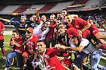 BARRANQUILLA – COLOMBIA _ 03-12-2013 / Tras vencer a Fortaleza en condición de visitante 2 – 0 en juego de ida, y empatar 1 – 0 en juego de vuelta que se llevó a cabo en el estadio Metropolitano de Barranquilla, Uniautónoma FC se coronó campeón del Torneo de Ascenso Colombiano y ahora hará parte de la primera división del Fútbol Profesional Colombiano.