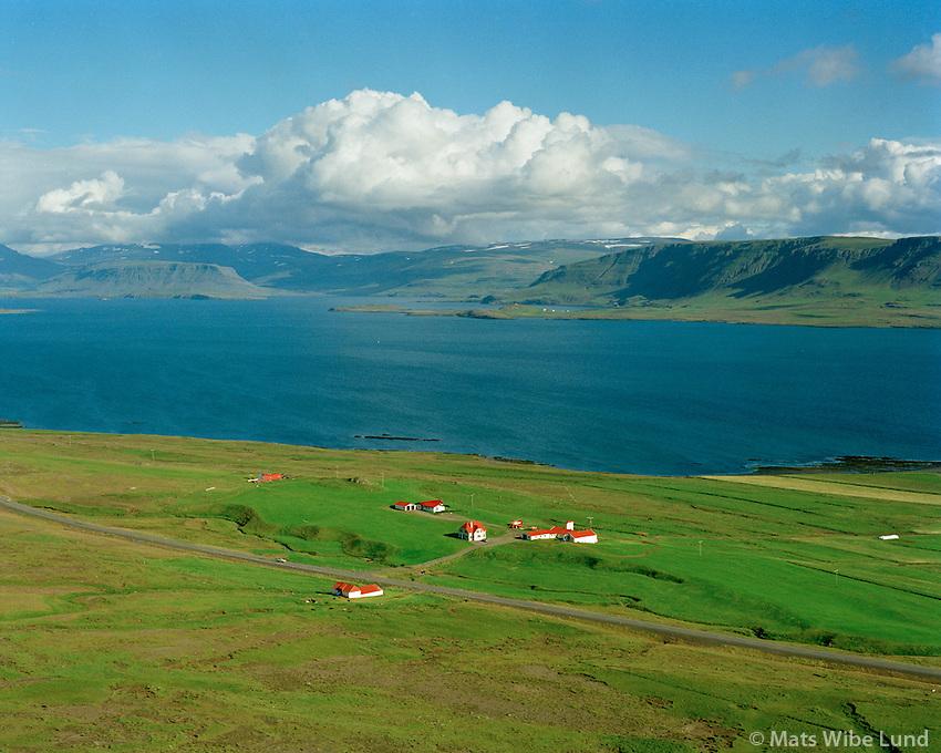 Kalastaðir, Hvalfjörður séð til austurs, Hvalfjarðarsveit áður Hvalfjarðarstrandarhreppur / Kalastadir, Hvalfjordur viewing east. Hvalfjardarsveit former Hvalfjardarstrandarhreppur.