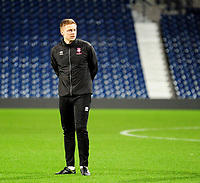 Lincoln City U18's professional development phase lead Tom Shaw during the pre-match warm-up<br /> <br /> Photographer Andrew Vaughan/CameraSport<br /> <br /> FA Youth Cup Round Three - West Bromwich Albion U18 v Lincoln City U18 - Tuesday 11th December 2018 - The Hawthorns - West Bromwich<br />  <br /> World Copyright &copy; 2018 CameraSport. All rights reserved. 43 Linden Ave. Countesthorpe. Leicester. England. LE8 5PG - Tel: +44 (0) 116 277 4147 - admin@camerasport.com - www.camerasport.com
