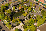 Aerial View of Lan Su Chinese Garden, Portland, Oregon