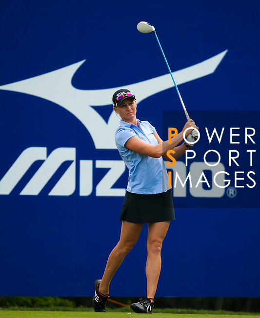 Ryann O'Toole of USA tees off on the 14th hole during day one of the Sunrise LPGA Taiwan Championship 2011 at the Sunrise Golf & Country Club on 20 October 2011 in Tao Yuan, Taiwan. Photo by Victor Fraile / The Power of Sport Images