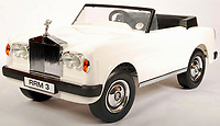 BNPS.co.uk (01202 558833)<br /> Pic: EastBristolAuctions/BNPS<br /> <br /> £2,000  - A rare vintage 1970's Sharna made Rolls Royce Corniche child's pedal car.<br />   <br /> Toy story...<br /> <br /> A remarkable lifetime collection of 30 vintage toy cars has emerged for sale for more than £65,000.<br /> <br /> The fleet of rare pedal cars were acquired over almost half a century by retired car garage owner David Worrow, 72.<br /> <br /> During their time with Mr Worrow they formed what was believed to be the biggest private collection of its kind in the world.